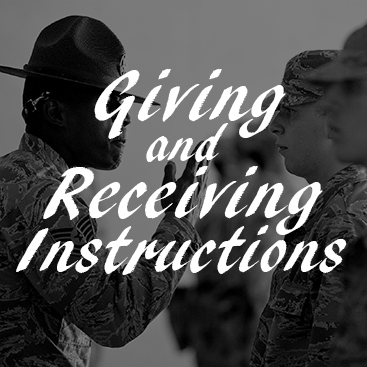 Giving and Receiving Instructions